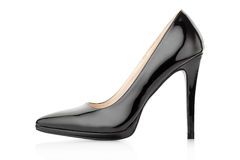 Черный ботинок для женщины Стоковые Фото