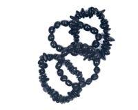 Черный браслет турмалина Стоковое Фото