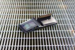 Черный бумажник открытый Стоковые Изображения