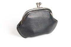черный бумажник старого типа Стоковое Изображение