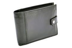 Черный бумажник Стоковое Изображение