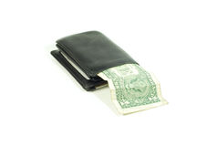 черный бумажник стоковое фото rf