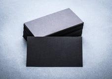 Черный бумажный шаблон визитной карточки Стоковое фото RF