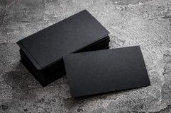 Черный бумажный шаблон визитной карточки Стоковые Фотографии RF