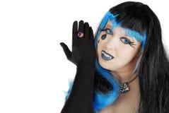 черный вампир портрета halloween способа Стоковые Фотографии RF