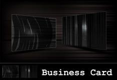 черный вектор визитной карточки установленный Стоковые Фотографии RF