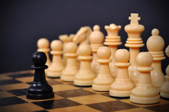 черный вектор пешки иллюстрации шахмат Стоковые Фото