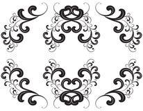 черный вектор силуэта орнамента Стоковые Изображения RF