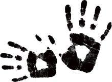черный вектор handprint Стоковое Фото