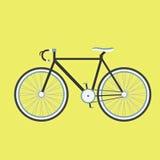 Черный велосипед иллюстрация штока