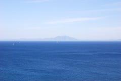 черный взгляд моря bodrum Стоковая Фотография