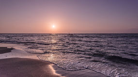 черный взгляд восхода солнца моря горы kara Крыма dag стоковое изображение