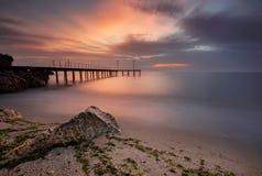 черный взгляд восхода солнца моря горы kara Крыма dag стоковое фото rf