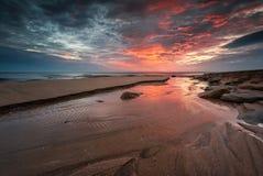 черный взгляд восхода солнца моря горы kara Крыма dag стоковые фотографии rf