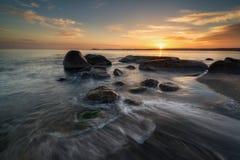 черный взгляд восхода солнца моря горы kara Крыма dag Стоковое Фото