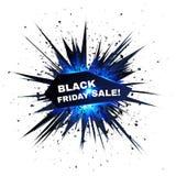 Черный взрыв вектора продажи пятницы с частицами Стоковое Фото