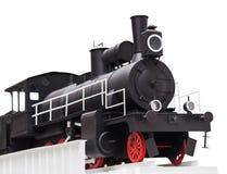 Черный винтажный поезд игрушки Стоковая Фотография RF