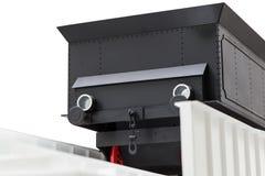 Черный винтажный поезд игрушки Стоковые Изображения RF