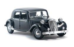 Черный винтажный ретро автомобиль Стоковая Фотография RF