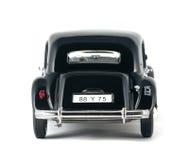 Черный винтажный ретро автомобиль Стоковые Фото