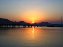 черный восход солнца моря Стоковое Изображение RF