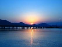 черный восход солнца моря Стоковое Фото