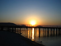 черный восход солнца моря Стоковая Фотография