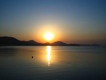 черный восход солнца моря Стоковое фото RF