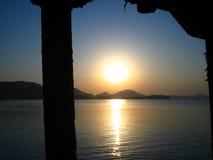 черный восход солнца моря Стоковые Изображения RF