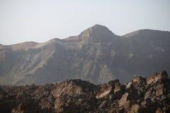 Черный вулканический утес лавы Стоковые Фото