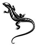 Черный гад ящерицы иллюстрация вектора