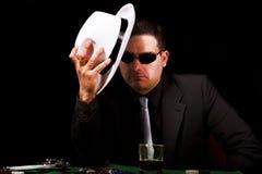 Черный гангстер костюма Стоковая Фотография