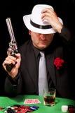 Черный гангстер костюма Стоковые Изображения