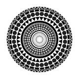 Черный геометрический орнамент картины вектора Стоковое Изображение