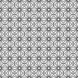Черный геометрический орнамент на белой предпосылке картина безшовная Стоковая Фотография