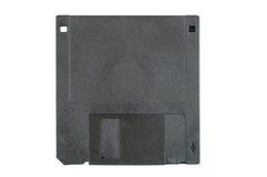 Черный гибкий магнитный диск на белой предпосылке Стоковое Изображение RF