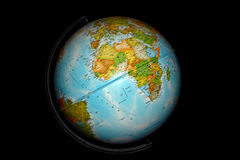 черный глобус стола стоковое фото