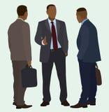Черный говорить бизнесменов Стоковое Изображение