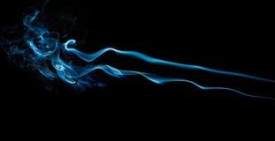 черный голубой дым Стоковая Фотография RF