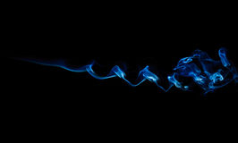 черный голубой дым Стоковые Фотографии RF
