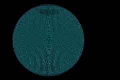 черный голубой полный провод глобуса Стоковая Фотография