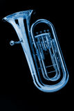 черный голубой tuba euphonium стоковые фотографии rf