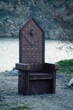 Черный готический трон Стоковая Фотография RF