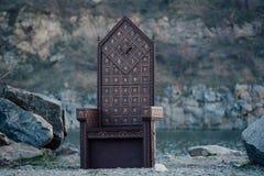 Черный готический трон Стоковые Фотографии RF