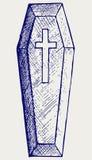 Черный гроб Стоковая Фотография