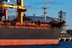 Черный грузовой корабль Стоковые Изображения RF