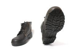 черный гулять ботинок Стоковые Фото