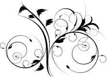 черный декоративный орнамент Стоковое Фото