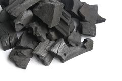 Черный деревянный уголь стоковая фотография