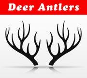 Черный дизайн вектора antlers оленей бесплатная иллюстрация